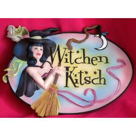 'WITCHEN KITSCH'PLACA DE PARED DE BRUJA-BRIGID ASHWOOD