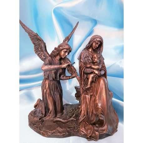 VIRGEN CON NIÑO JESUS Y CON ANGEL TOCANDO VIOLIN-VERONESE ARTE RELIGIOSO