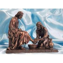 JESUS EN EL LAVATORIO DE PIES-VERONES BRONCE