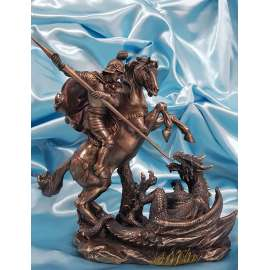 FIGURA DE SAN JORGE CON DRAGON-VERONESE STUDIO COLLECTION